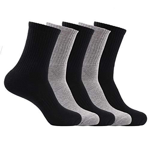 靴下 秋冬 厚手 綿 メンズ ハイソックス パイル地 暖かい 防寒 消臭 抗菌 蒸れない ビジネス/アウトドア 24-28cm 5足セット