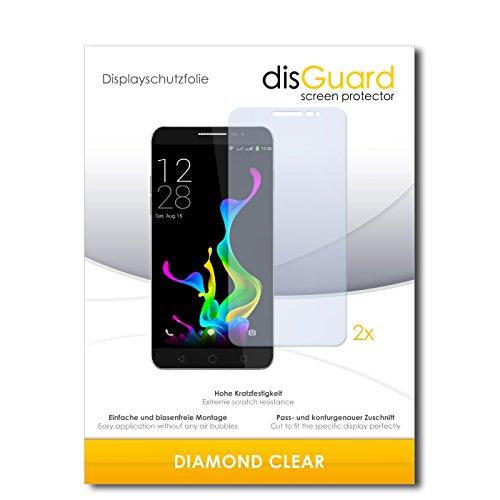 disGuard 2 x Bildschirmschutzfolie Coolpad Modena Schutzfolie Folie DiamondClear unsichtbar