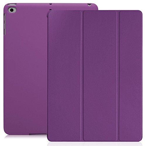 Preisvergleich Produktbild KHOMO iPad 9.7 Zoll Case Hülle 2018,  2017 Violett Lila Gehäuse mit Doppeltem Schutz Ultra Dunn und Super Leicht Smart Cover Schutzhülle Nur für 2018 und 2017 Versionen Neue Apple iPad 9.7 - Purple