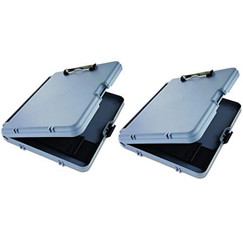 Saunders Portablocco grigio plastica work Mate Storage Clipboard–reversibile per riporre documenti, biglietti da visita, penne e matite, tablet. macchine stazionarie 2confezione