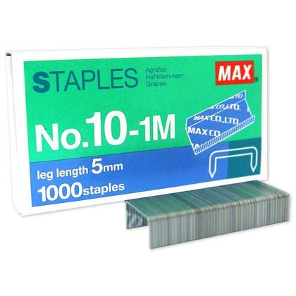 20 Boxes (20,000-Staples) Authentic Max Staples No.10-1M for Office Stapler Photo #5
