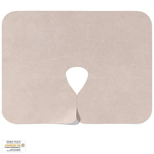 Dr. Güstel Waschfaserlaken ® PREMIUM Nasenschlitztuch COLOR beige 400x waschbar 40x30 cm 50 Stück Hygieneauflagen OEKO-TEX®-zertifizierte Vlieslaken Auflagen für Behandlungsliegen