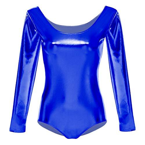 OBEEII NIña Maillot de Ballet Danza Gimnasia Leotardos Ballet Gimnasia Dancewear Clásico Azul XXL