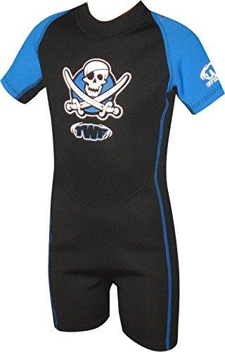 TWF kurzer Piraten-Neoprenanzug für Kinder, blau, 1 ( 3-4 Jahre)