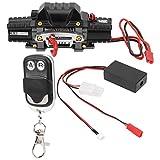 VGEBY RC Car Winch, Metal Double Motor RC Winch Controlador de cabrestante simulado Duradero para 1/10 Scale RC Model Vehicle Electic Crawler Car(A)