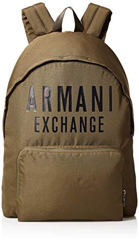 Armani Exchange - Backpack, Mochilas Hombre, Blanco (White), 10x10x10 cm (W x H L)