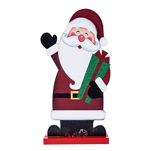 AUXCOO Home Decoration for Christmas Santa Claus Graphic Design Welcome Xmas Display Tree Merry Ornament (Xmas Gift)