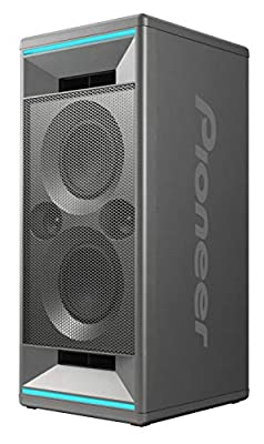 Pioneer Club 5 Bluetooth Party Speaker (Soundbox with LED light effects, Voice Control, USB for MP3 playback, for iPhone iOS and Android, App, 2 x 60 Watt RMS) grey by Pioneer