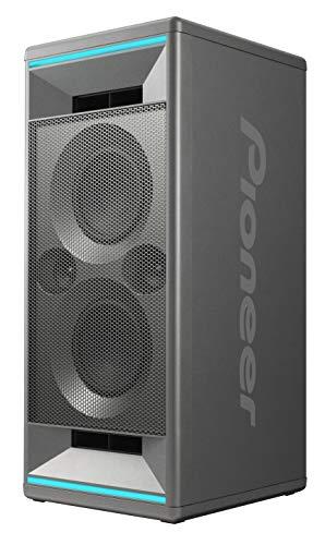 Pioneer Club 5 Bluetooth Lautsprecher (LED Lichteffekten, Voice Control, USB für MP3 Wiedergabe, App, 2 x 60 W RMS), für Geburtstags-, Garten-, WG-Party, Fitness- und Heimstudio, grau