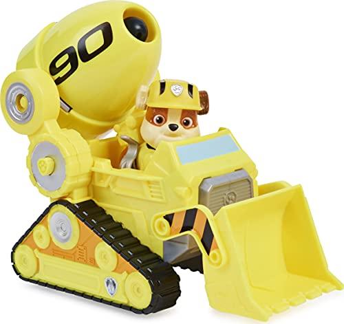 PAW PATROL Rubble's Deluxe Movie Transforming Toy Car con Figura de acción Coleccionable, Juguetes para niños a Partir de 3 años