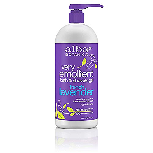 Alba Botanica Very Emollient Bath & Shower Gel, French Lavender, 32 Oz