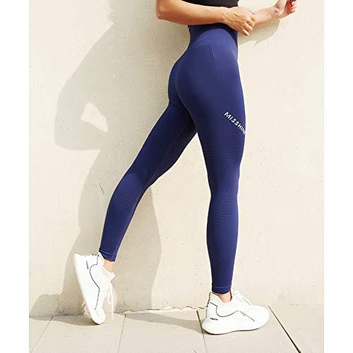PKYGXZ Legins Fitness Mujer Leggings Deportivos sin Costuras Mujeres Fitness Cintura Alta Control de Barriga Pantalones de YogaSquat Gimnasio Medias Push UpWorkout Ropa Deportiva
