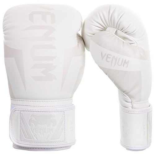 Venum Elite Boxing Gloves  White/White  16oz 16 oz