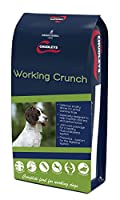 Working crunch is designed to help maintain stamina and performance for active dogs within a delicious poultry dinner 24 percent protein, 15 percent fat, increased fat and high quality protein to support a dog's endurance Contains taurine and carniti...