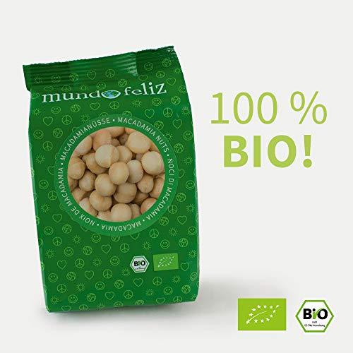 Mundo Feliz Rohe Macadamia-Nüsse aus Bio-Anbau, 5 x 100 g