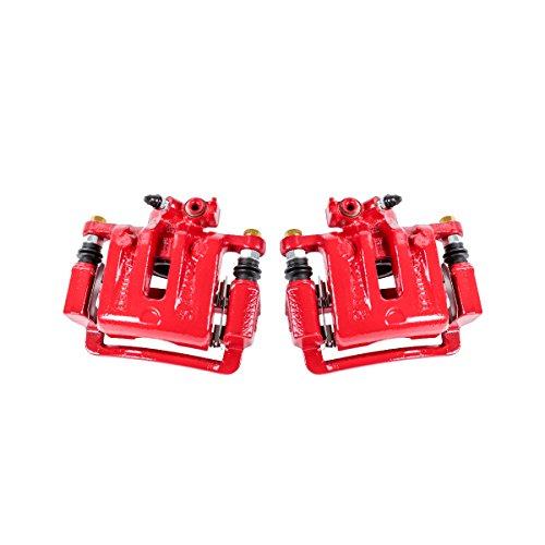 Callahan CCK03884 [2] REAR Premium Semi-Loaded Red Coated Caliper Pair + Hardware Brake Kit