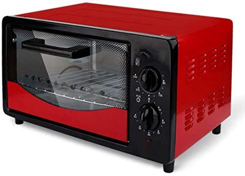 Mini horno Horno eléctrico 500W, horno 12L, horno de tostadora con 60 minutos de cocina múltiple con placas de fogones