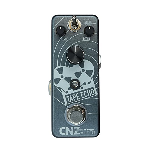 CNZ Audio Tape Echo Guitar Effects Delay Pedal, True Bypass