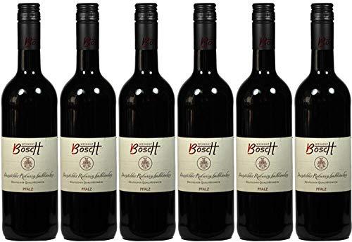 6x Dornfelder Rotwein halbtrocken 2018 - Weingut Bosch, Pfalz - Rotwein
