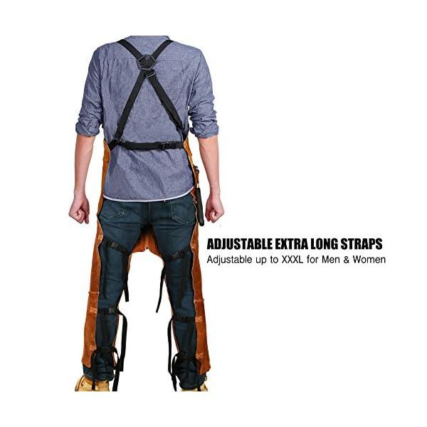Leather Welding Apron Split Leg for Men 4
