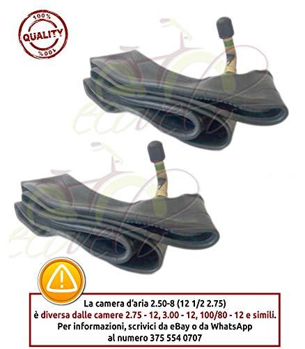 ECA12CUU - Par de cámaras de aire 12 1/2 2.75 para Mini Cross Moto Pit Bike Minicross Pitbike