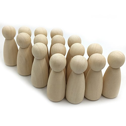 Coskiss 50pcs Bois Personnages (fille) 1.38 \