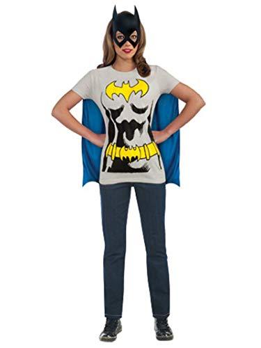 Rubies DC Comics Batgirl T-Shirt with Cape and Mask, Black, X-Large