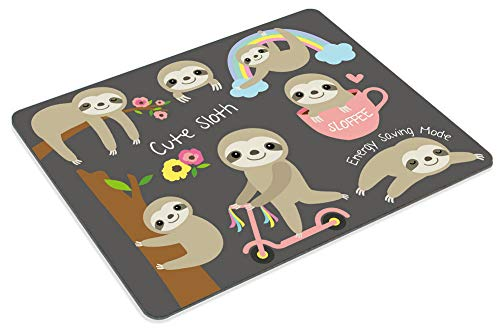 Smooffly Cute Baby Sloth Mouse pad Non-Slip Rubber Gaming Mousepad Rectangle Mouse Pads for Computers Laptop Photo #4