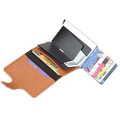 QQWA Minimalista Bolsillo Mini Billetera NFC Pop-up Billetera Ultra-delgada Ligero Metal Tarjeta de Crédito Titular de la Moneda Bolsillo de Aluminio Titular de la Tarjeta de Crédito