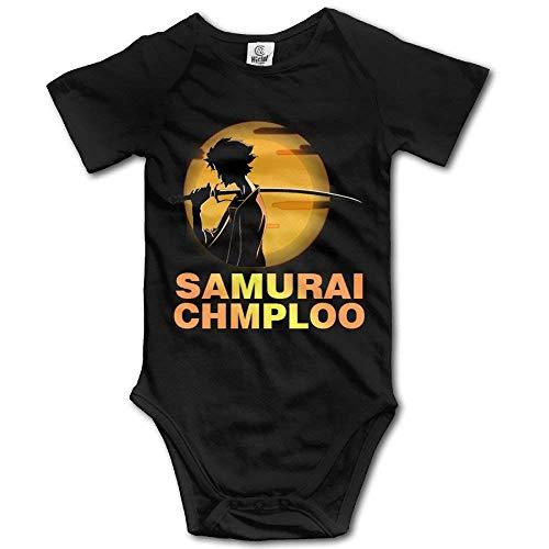 Bright color Samurai Champloo Mugen Baby Girls/Boys Short Sleeve Bodysuit