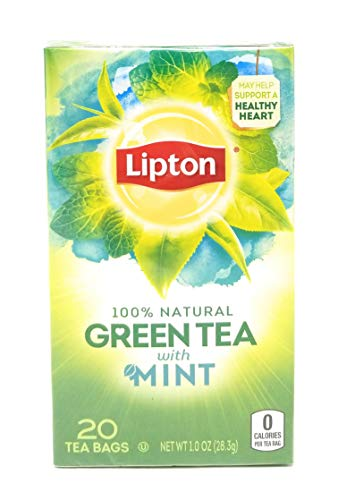 Lipton Green Tea with Mint 20 Ct (Pack of 2)