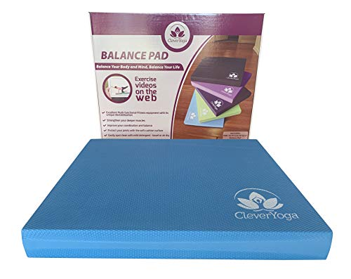 Clever Yoga Foam Balance Pad - Blue Extra Large 19.75 x 15.75 x 2.5 inches