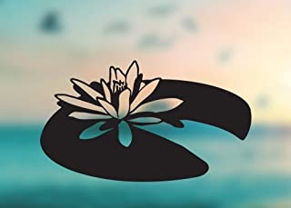 Lilly Pad Cute Flower Water Lilly - Vinyl Decal - Car Truck Laptop - SELECT SIZE