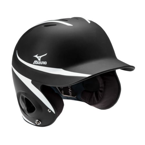 Mizuno MVP G2 Batter's Helmet, Black/White, Adjustable Size