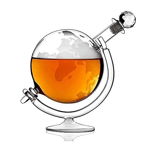 Decantador de Vino, Decantador de Whisky Decantador de Globo de Whisky de Cristal, Cristal Transparente Vidrio soplado a Mano sin Plomo, para Licor, Scotch, Bourbon, Vodka, Juego de decantado