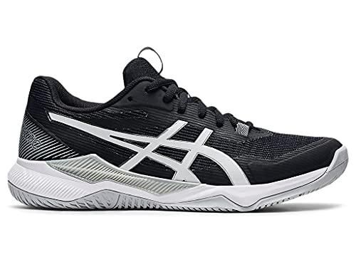 ASICS Women's Gel-Tactic Indoor Sport Shoes, 10, Black/White