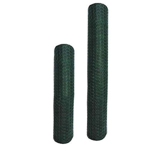 70501 Poultry Netting/hex Netting/Chicken Wire mesh - Green Vinyl hex Wire mesh, 24'x25FT 1' 20ga, 1rool/Pack with Color Sticker