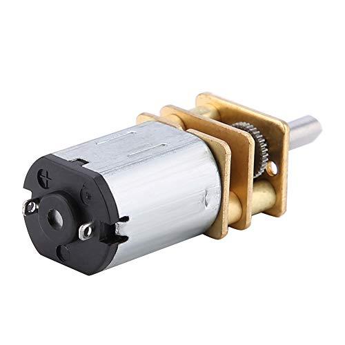 Motor de reducción de velocidad de reducción de velocidad 50-2000RPM con caja de engranajes de metal, reducción DC 6V-12V Motor de metal de metal hecho