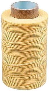Ekalee Lederhandwerksfaden, 273 Yards gewachster Lederfaden, Ledernähfaden für Armbänder, Fußkettchen, Perlen, Halsketten und Schmuckherstellung, Handnähen, Buchbinden, Schuhreparatur