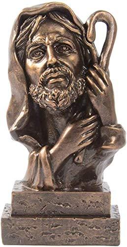 WQQLQX Statue Christliche religiöse Statuen Jesus Puppe Harz Skulptur Ornamente Sohn Gottes Jesus Modell Figuren Home Office Geschenke Handwerk Dekoration Zubehör Skulpturen (Color : Picture 1)