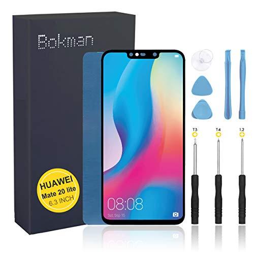 bokman Schermo Display LCD per Huawei Mate 20 Lite Nero, Touch Screen Digitizer Parti di Ricambio con Strumenti di Riparazione
