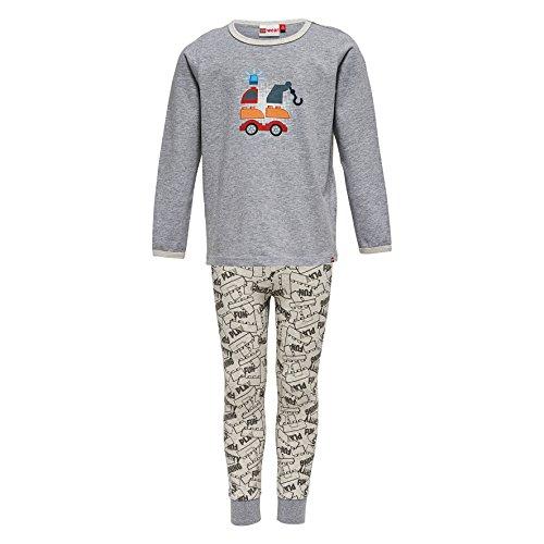 Lego Wear Jungen Zweiteiliger Schlafanzug duplo NIS 704, Gr. 80, Grau (Grey Melange 924)
