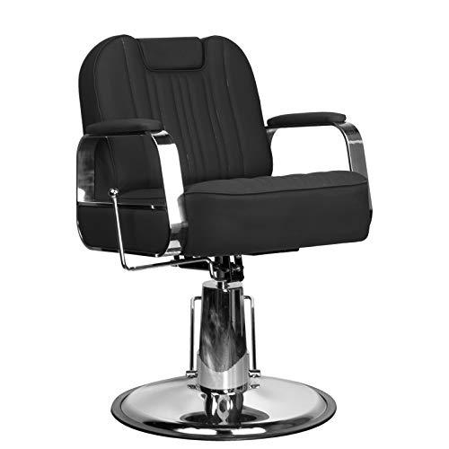 Activeshp Rufo Friseurstuhl Friseursessel Barberstuhl Bedienungsstuhl Friseureinrichtung Schwarz  360 Grad drehbar   höhenverstellbar mit hydraulikpumpen  