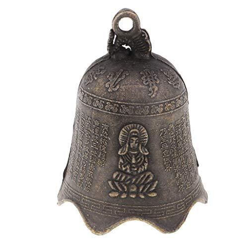 P Prettyia Orientalische Chinesische Metallglocke Charme Dekor Für Gartenverzierungen - Bronze 2