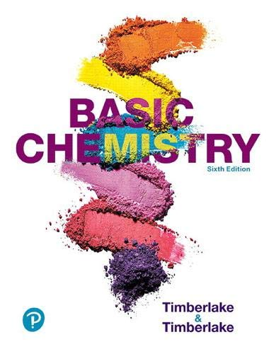 Compare Textbook Prices for Basic Chemistry 6 Edition ISBN 9780134878119 by Timberlake, Karen