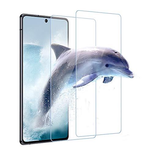 Carantee Panzerglas Schutzfolie für Samsung Galaxy A51 [2 Stück], 9H Härte, Frei von Kratzern Fingabdrücken und Öl, Hülle Freundllich, 0.33mm Ultra-klar Displayschutzfolie für Samsung A51