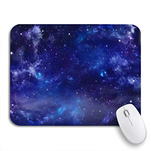 Adowyee Gaming Mouse Pad Blue Midnight Beautiful Nightly Sky Night Fantasy Starry Universe 9.5'x7.9' Nonslip Rubber Backing Mousepad for Notebooks Computers Mouse Mats