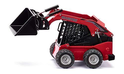 SIKU 3049, Manitou 3300V Kompaktlader, 1:32, Metall/Kunststoff, Rot, Viele Funktionen, Kombinierbar mit SIKU Modellen im gleichen Maßstab