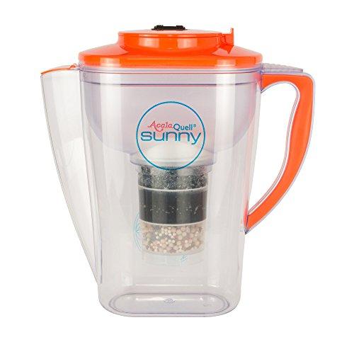 Acala Quell Wasserfilter Sunny | Orange | Kannenfilter | Aktivkohle Wasserfilter | Kreiert köstlich schmeckendes, wohltuendes Wasser