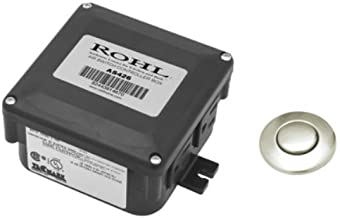 Rohl AS450STN Air Activated Switch Complete with Button and Control Box for Waste Disposal in Satin Nickel by Rohl